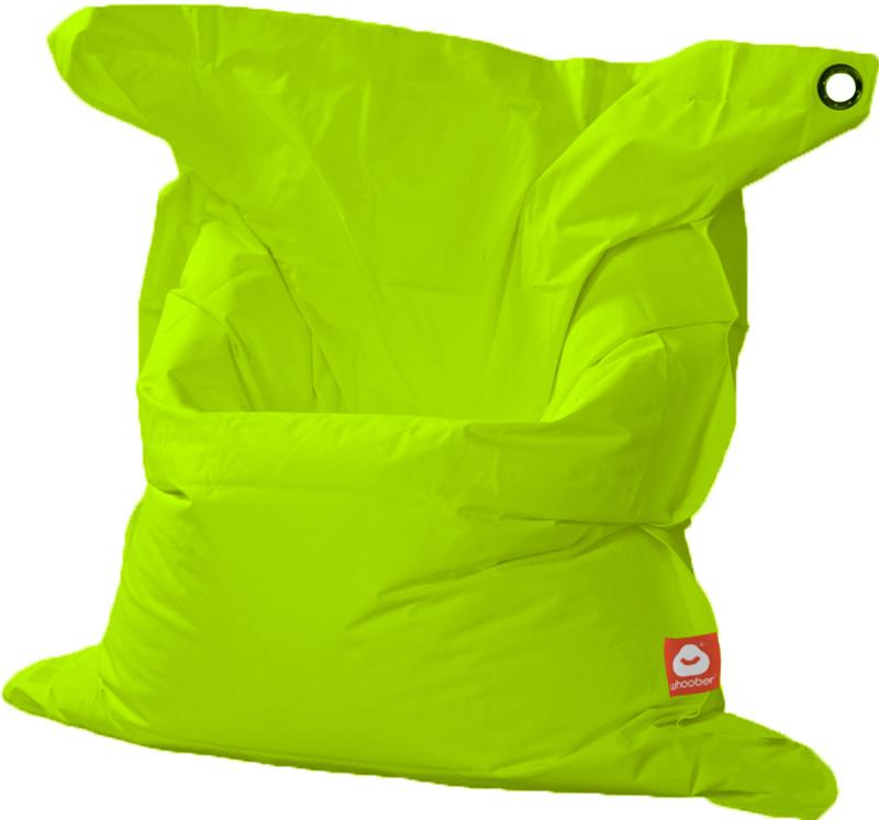 <h3>Comfortabele limoen groene rechthoekige XL-zitzak van Whoober-outdoor kwaliteit die in Nederland door Whoober wordt geproduceerd. Gratis verzending en binnen enkele werkdagen in huis!</h3><h2>Belangrijkste eigenschappen van&nbsp;de St. Trop XL</h2><ul
