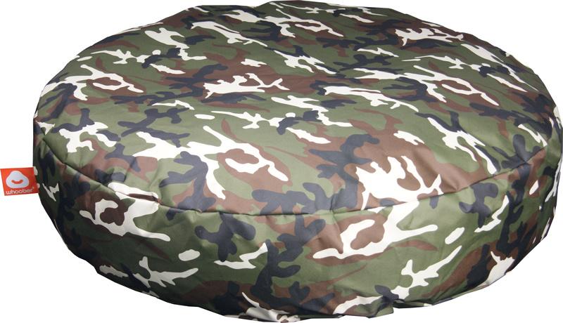 <h3>Comfortabele camouflage ronde zitzak van Whoober-outdoor kwaliteit die in Nederland door Whoober wordt geproduceerd. Gratis verzending en binnen enkele werkdagen in huis!</h3><h2>Belangrijkste eigenschappen vande Ibiza Large</h2><ul><li>Ook voor de z