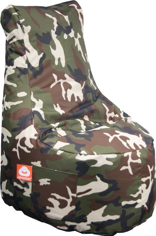 <h3>Comfortabele camouflage stoelvormige zitzak van Whoober-outdoor kwaliteit die in Nederland door Whoober wordt geproduceerd. Gratis verzending en binnen enkele werkdagen in huis!</h3><h3>Belangrijkste eigenschappen vande Nice</h3><ul><li>Ook voor de z