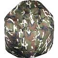 """Whoober Whoober Ronde Zitzak """"Ibiza"""" M outdoor camouflage - Wasbaar - Geschikt voor buiten"""