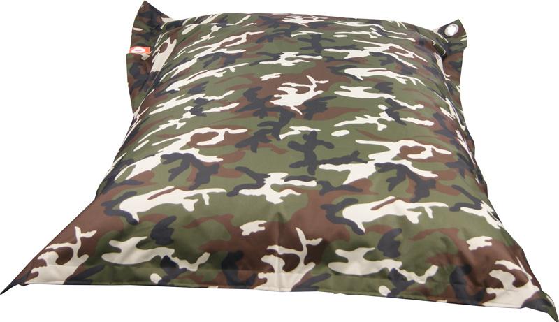 <h3>Comfortabele camouflage rechthoekige XL-zitzak van Whoober-outdoor kwaliteit die in Nederland door Whoober wordt geproduceerd. Gratis verzending en binnen enkele werkdagen in huis!</h3><h2>Belangrijkste eigenschappen vande St. Tropez XL</h2><ul><li>O