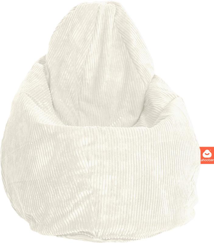 <h2>Comfortabele peervorm-zitzak in witte ribcord die in Nederland door Whoober wordt geproduceerd. Gratis verzending en 1 jaar garantie!</h2><h2>Belangrijkste eigenschappen vande Barca</h2><ul><li>Ook voor de zakelijke markt dankzij wasbare buitenhoes</