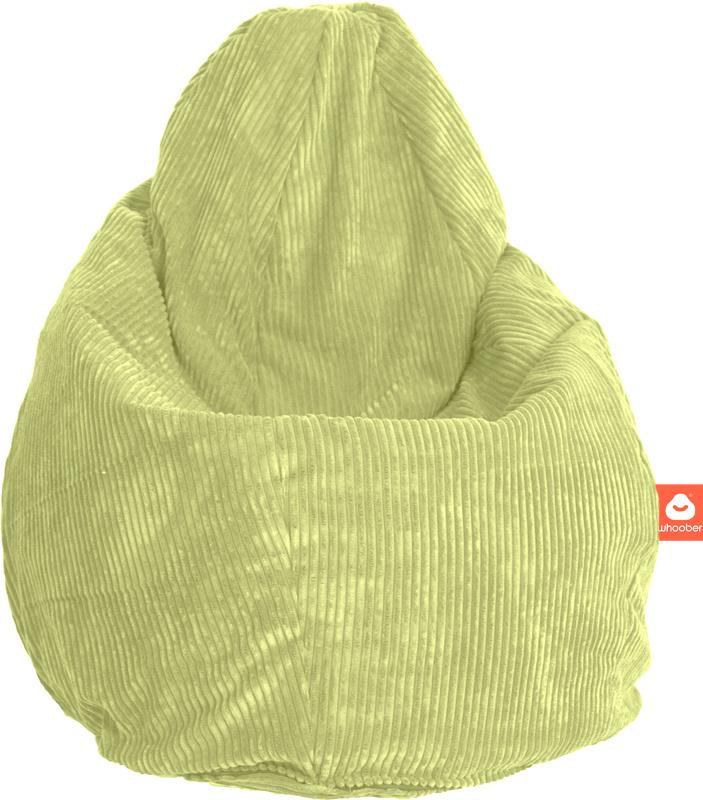 <h2>Comfortabele peervorm-zitzak in pistache ribcord die in Nederland door Whoober wordt geproduceerd. Gratis verzending en 1 jaar garantie!</h2><h2>Belangrijkste eigenschappen vande Barca</h2><ul><li>Ook voor de zakelijke markt dankzij wasbare buitenhoe