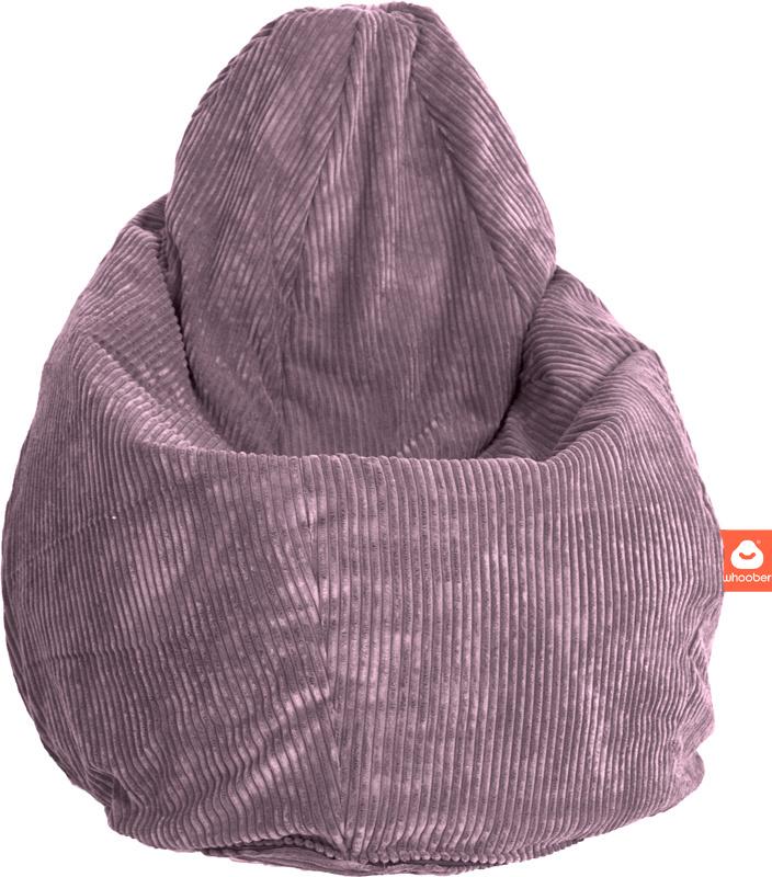 <h2>Comfortabele peervorm-zitzak in paarse ribcord die in Nederland door Whoober wordt geproduceerd. Gratis verzending en 1 jaar garantie!</h2><h2>Belangrijkste eigenschappen vande Barca</h2><ul><li>Ook voor de zakelijke markt dankzij wasbare buitenhoes<