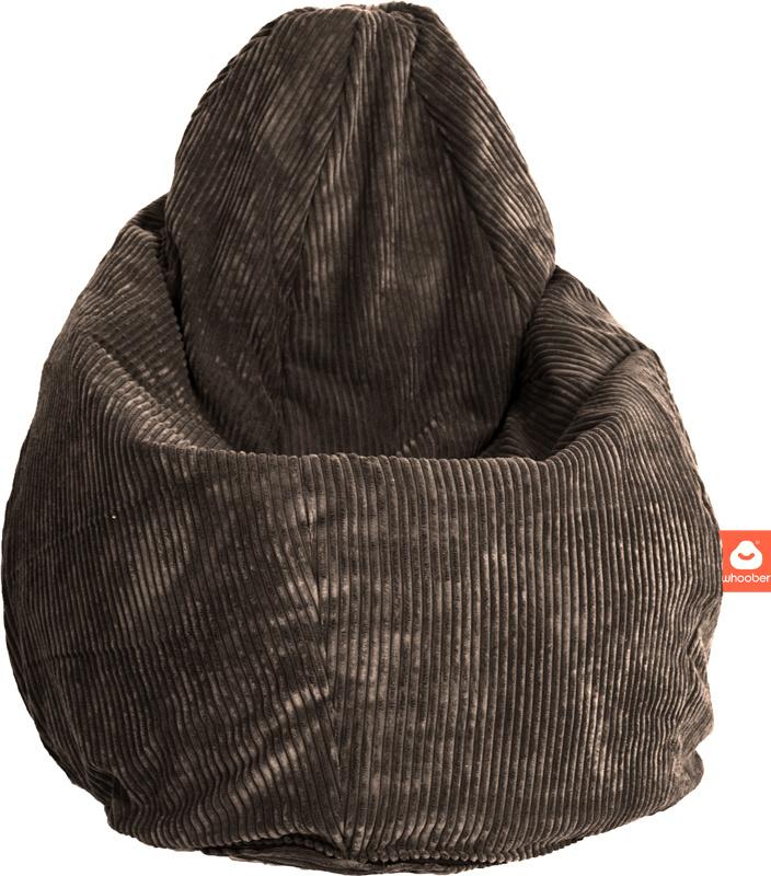 <h2>Comfortabele peervorm-zitzak in taupe ribcord die in Nederland door Whoober wordt geproduceerd. Gratis verzending en 1 jaar garantie!</h2><h2>Belangrijkste eigenschappen vande Barca</h2><ul><li>Ook voor de zakelijke markt dankzij wasbare buitenhoes</