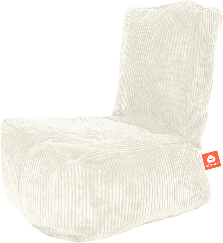 <h2>Comfortabele kinderzitzak in witte ribcord die in Nederland door Whoober wordt geproduceerd. Gratis verzending en 1 jaar garantie!</h2><h2>Belangrijkste eigenschappen vande Fiji</h2><ul><li>Ook voor de zakelijke markt dankzij wasbare buitenhoes</li><