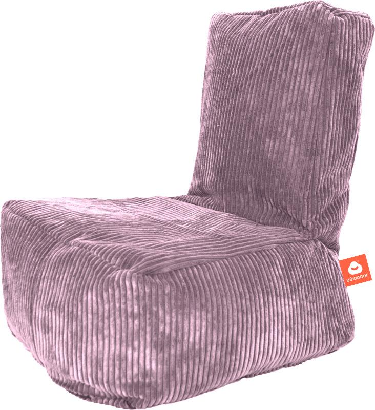 <h2>Comfortabele kinderzitzak in paarse ribcord die in Nederland door Whoober wordt geproduceerd. Gratis verzending en 1 jaar garantie!</h2><h2>Belangrijkste eigenschappen vande Fiji</h2><ul><li>Ook voor de zakelijke markt dankzij wasbare buitenhoes</li>