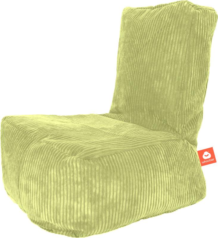 <h2>Comfortabele kinderzitzak in pistache ribcord die in Nederland door Whoober wordt geproduceerd. Gratis verzending en 1 jaar garantie!</h2><h2>Belangrijkste eigenschappen vande Fiji</h2><ul><li>Ook voor de zakelijke markt dankzij wasbare buitenhoes</l