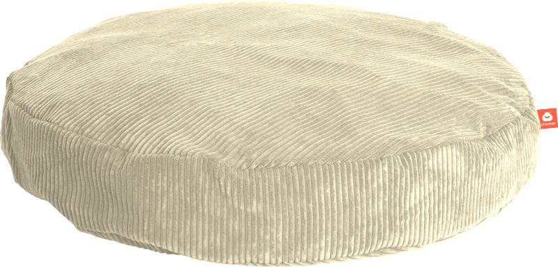 <h2>Comfortabele ronde zitzak in crème ribcord die in Nederland door Whoober wordt geproduceerd. Gratis verzending en 1 jaar garantie!</h2><h2>Belangrijkste eigenschappen vande Ibiza Large</h2><ul><li>Ook voor de zakelijke markt dankzij wasbare buitenhoe