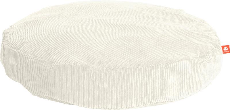<h2>Comfortabele ronde zitzak in witte ribcord die in Nederland door Whoober wordt geproduceerd. Gratis verzending en 1 jaar garantie!</h2><h2>Belangrijkste eigenschappen vande Ibiza Large</h2><ul><li>Ook voor de zakelijke markt dankzij wasbare buitenhoe