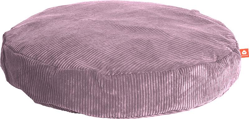 <h2>Comfortabele ronde zitzak in paarse ribcord die in Nederland door Whoober wordt geproduceerd. Gratis verzending en 1 jaar garantie!</h2><h2>Belangrijkste eigenschappen vande Ibiza Large</h2><ul><li>Ook voor de zakelijke markt dankzij wasbare buitenho