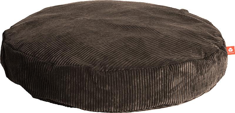 <h2>Comfortabele ronde zitzak in taupe ribcord die in Nederland door Whoober wordt geproduceerd. Gratis verzending en 1 jaar garantie!</h2><h2>Belangrijkste eigenschappen vande Ibiza Large</h2><ul><li>Ook voor de zakelijke markt dankzij wasbare buitenhoe
