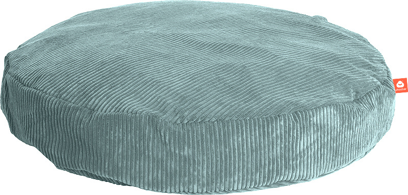 <h2>Comfortabele ronde zitzak in aqua blauwe ribcord die in Nederland door Whoober wordt geproduceerd. Gratis verzending en 1 jaar garantie!</h2><h2>Belangrijkste eigenschappen vande Ibiza Large</h2><ul><li>Ook voor de zakelijke markt dankzij wasbare bui