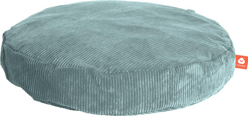 <h2>Comfortabele ronde zitzak in aqua blauwe ribcord die in Nederland door Whoober wordt geproduceerd. Gratis verzending en 1 jaar garantie!</h2><h2>Belangrijkste eigenschappen vande Ibiza Medium</h2><ul><li>Ook voor de zakelijke markt dankzij wasbare bu