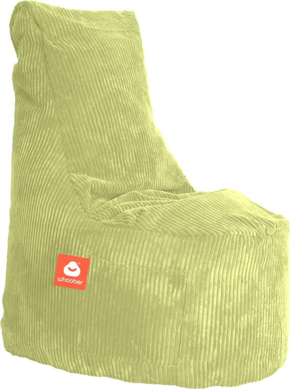 <h3>Comfortabele stoelvormige zitzak in pistache ribcord die in Nederland door Whoober wordt geproduceerd. Gratis verzending en 1 jaar garantie!</h3><h3>Belangrijkste eigenschappen vande Nice</h3><ul><li>Ook voor de zakelijke markt dankzij wasbare buiten