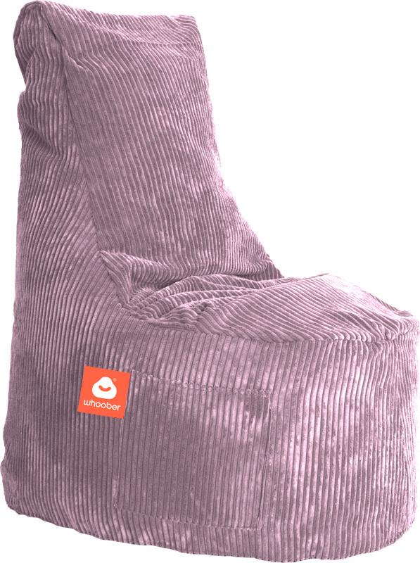 <h3>Comfortabele stoelvormige zitzak in paarse ribcord die in Nederland door Whoober wordt geproduceerd. Gratis verzending en 1 jaar garantie!</h3><h3>Belangrijkste eigenschappen vande Nice</h3><ul><li>Ook voor de zakelijke markt dankzij wasbare buitenho