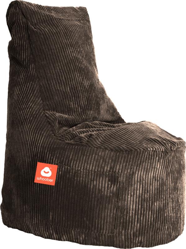 <h3>Comfortabele stoelvormige zitzak in taupe ribcord die in Nederland door Whoober wordt geproduceerd. Gratis verzending en 1 jaar garantie!</h3><h3>Belangrijkste eigenschappen vande Nice</h3><ul><li>Ook voor de zakelijke markt dankzij wasbare buitenhoe