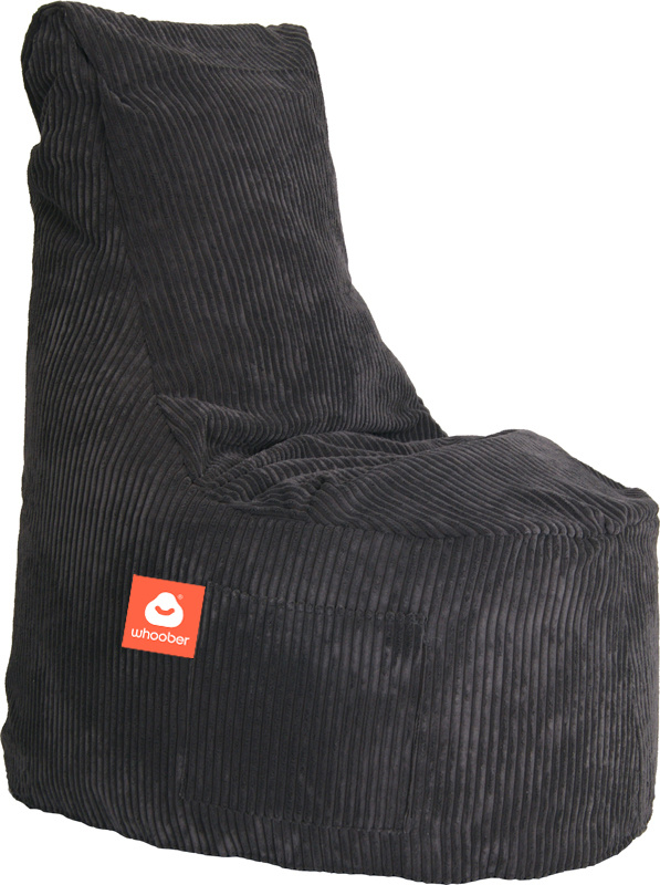 <h3>Comfortabele stoelvormige zitzak in antraciet ribcord die in Nederland door Whoober wordt geproduceerd. Gratis verzending en 1 jaar garantie!</h3><h3>Belangrijkste eigenschappen vande Nice</h3><ul><li>Ook voor de zakelijke markt dankzij wasbare buite