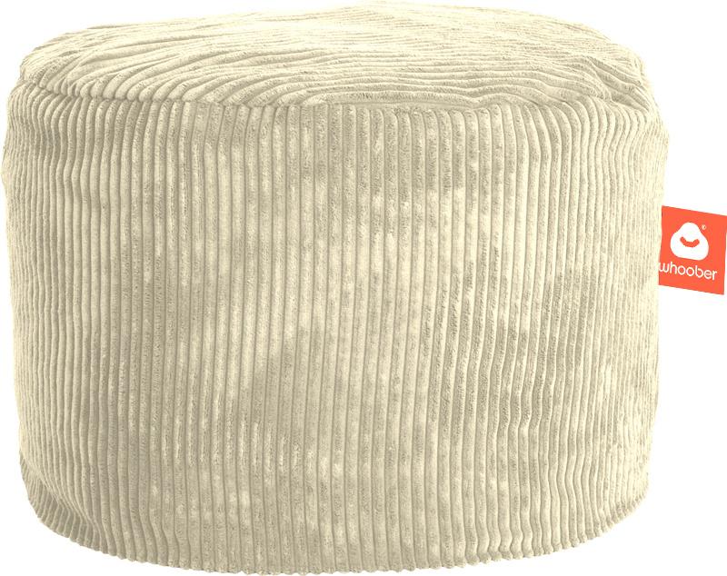<h2>Comfortabele & multifunctionele poef in crème ribcord die in Nederland door Whoober wordt geproduceerd. Gratis verzending en 1 jaar garantie!</h2><h2>Belangrijkste eigenschappen vande Rhodos</h2><ul><li>Ook voor de zakelijke markt dankzij wasbare bui