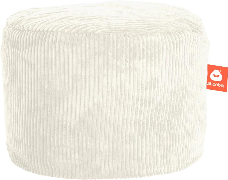 <h2>Comfortabele & multifunctionele poef in witte ribcord die in Nederland door Whoober wordt geproduceerd. Gratis verzending en 1 jaar garantie!</h2><h2>Belangrijkste eigenschappen vande Rhodos</h2><ul><li>Ook voor de zakelijke markt dankzij wasbare bui