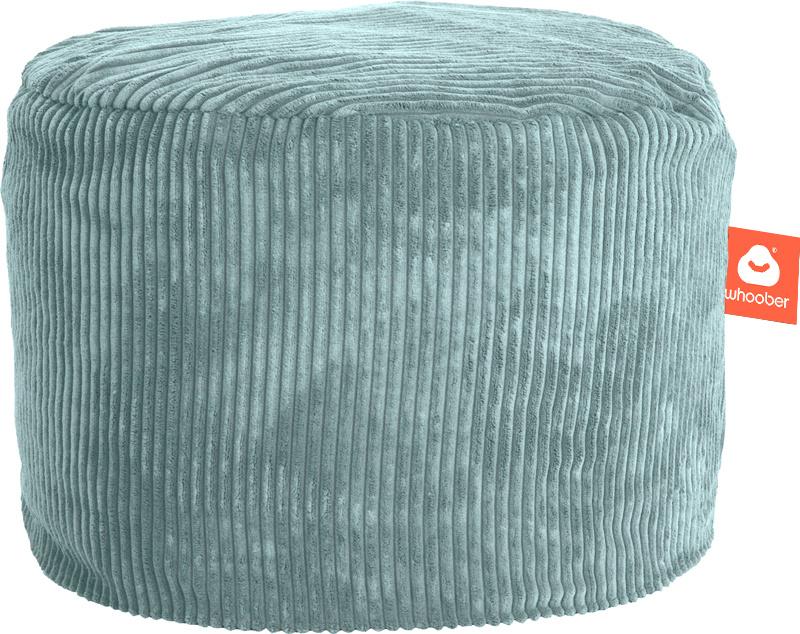 <h2>Comfortabele &amp; multifunctionele poef in aqua blauwe ribcord die in Nederland door Whoober wordt geproduceerd. Gratis verzending en 1 jaar garantie!</h2><h2>Belangrijkste eigenschappen van&nbsp;de Rhodos</h2><ul><li>Ook voor de zakelijke markt dank