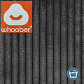 "Whoober Whoober Ronde Zitzak ""Ibiza"" L ribcord antraciet - Wasbaar - Zacht en comfortabel"