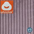 "Whoober Whoober Ronde Zitzak ""Ibiza"" L ribcord paars - Wasbaar - Zacht en comfortabel"