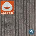 "Whoober Whoober Lounge stoel zitzak ""Bali"" ribcord taupe - zacht en comfortabel - Wasbaar"