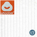 "Whoober Whoober Lounge stoel zitzak ""Bali"" ribcord wit - zacht en comfortabel - Wasbaar"