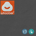 """Whoober Whoober Ronde Zitzak """"Ibiza"""" M outdoor antraciet - Wasbaar - Geschikt voor buiten"""