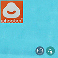 """Whoober Whoober Ronde Zitzak """"Ibiza"""" L outdoor aqua blauw - Wasbaar - Geschikt voor buiten"""