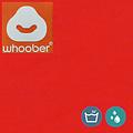 """Whoober Whoober Ronde Zitzak """"Ibiza"""" M outdoor donker oranje - Wasbaar - Geschikt voor buiten"""