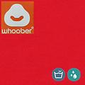 """Whoober Whoober Zitzak poef """"Rhodos"""" outdoor rood - Wasbaar - Geschikt voor buiten"""