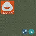 """Whoober Whoober Zitzak hoes """"Bali"""" outdoor legergroen - Wasbaar - Geschikt voor buiten"""