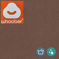 """Whoober Whoober Zitzak hoes """"Rhodos"""" outdoor kastanjebruin - Wasbaar - Geschikt voor buiten"""