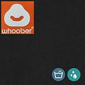 """Whoober Whoober Zitzak hoes """"Bali"""" outdoor zwart - Wasbaar - Geschikt voor buiten"""