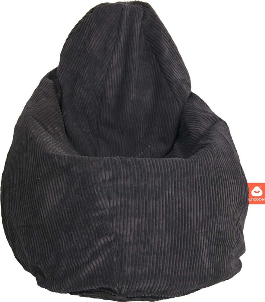 <h2>Comfortabele peervorm-zitzak in antraciet ribcord die in Nederland door Whoober wordt geproduceerd. Gratis verzending en 1 jaar garantie!</h2><h2>Belangrijkste eigenschappen vande Barca</h2><ul><li>Ook voor de zakelijke markt dankzij wasbare buitenho