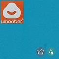 """Whoober Whoober Zitzak poef """"Rhodos"""" outdoor turquoise - Wasbaar - Geschikt voor buiten"""
