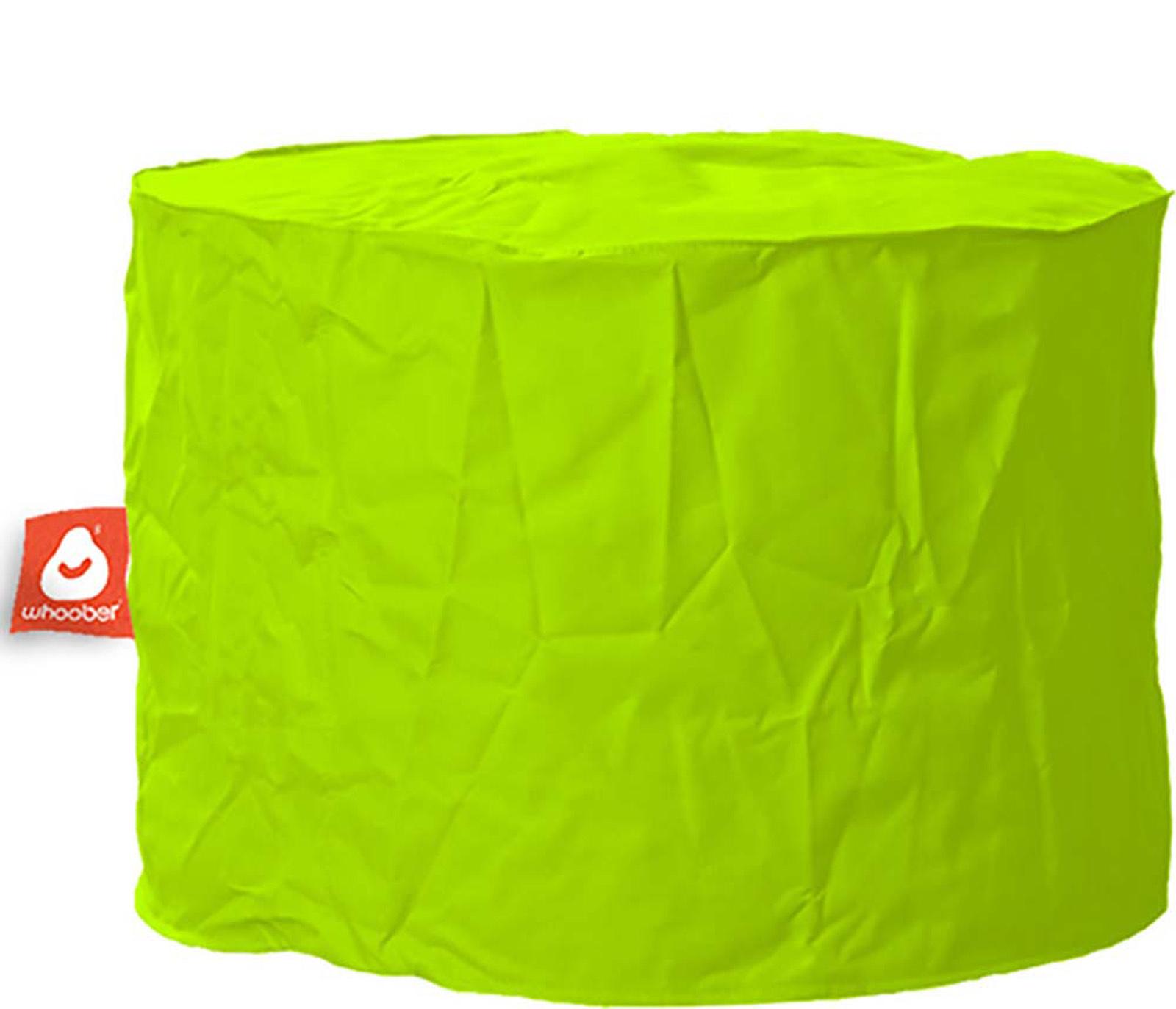 <h3>Comfortabele & multifunctionele limoen groene poef van Whoober-outdoor kwaliteit die in Nederland door Whoober wordt geproduceerd. Gratis verzending en binnen enkele werkdagen in huis!</h3><h2>Belangrijkste eigenschappen vande Rhodos</h2><ul><li>Ook