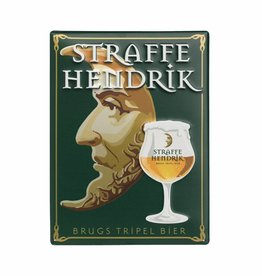 Straffe Hendrik tripel metal sign