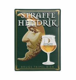 Straffe Hendrik Tripel metalen pancarte