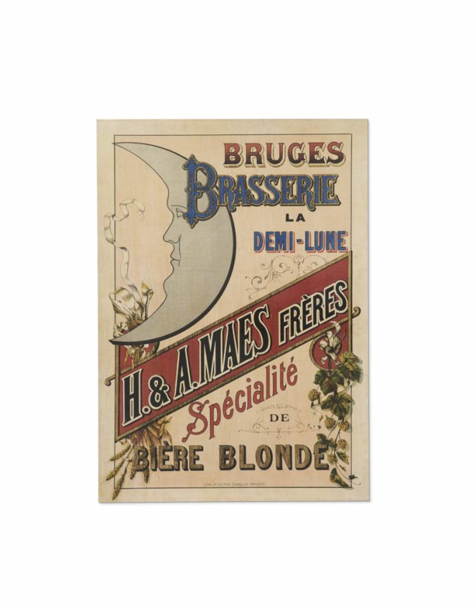 Henri Maes poster yellow