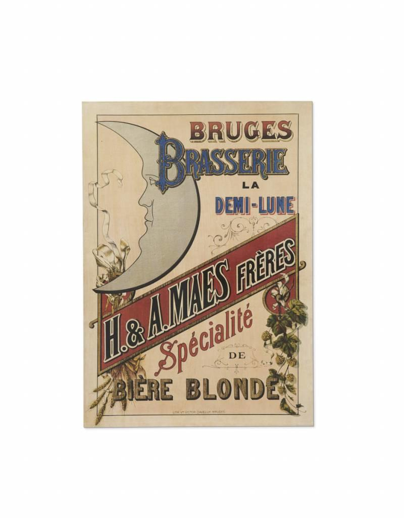 Henri Maes affiche jaune
