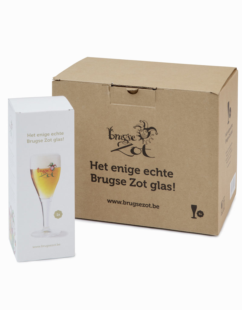 Brugse Zot glass 33cl box 6 pieces