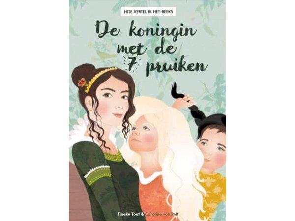 Prentenboek 'De koningin met de 7 pruiken'