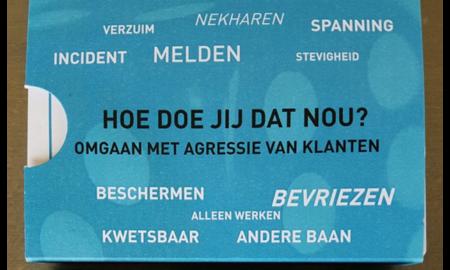 School tegen Schelden Kaartspel: HOE DOE JIJ DAT NOU/ omgaan met agressie van klanten