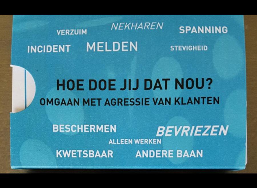 Kaartspel: HOE DOE JIJ DAT NOU/ omgaan met agressie van klanten