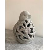 Garten Perfekt Laterne aus Zement mit Ornamenten PP-004