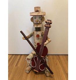 Garten Perfekt Deko Holzfigur Cello WL-016