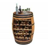 Garten Perfekt Fasskönigbar TREBBIANO 1 ohne Türe aus massivem Eichenholz aus gebrauchtem Weinfass perfekt für Weinkeller, Vinothek